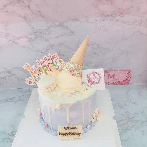 馬卡龍雪糕筒蛋糕