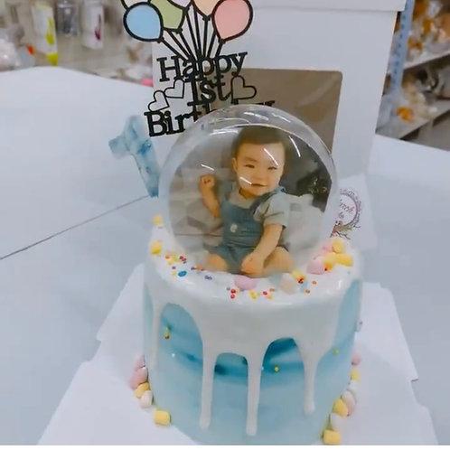 相片水晶球蛋糕 (可食用相片)