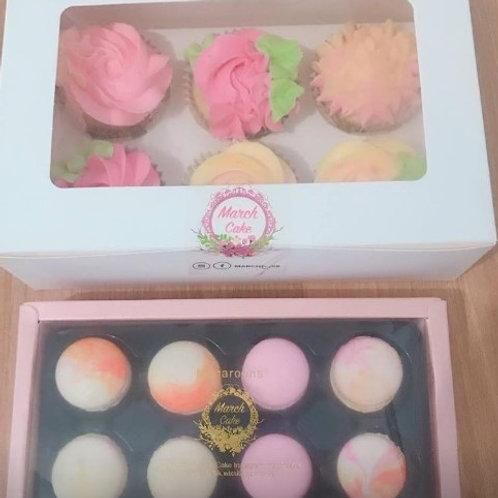 cupcake macaron set