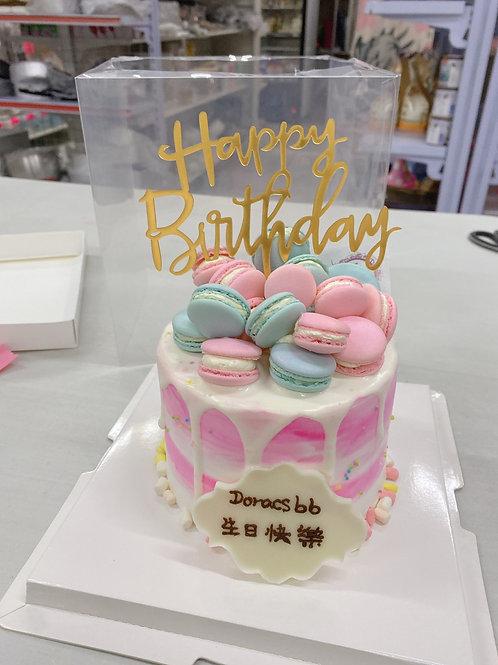 馬卡龍bb蛋糕