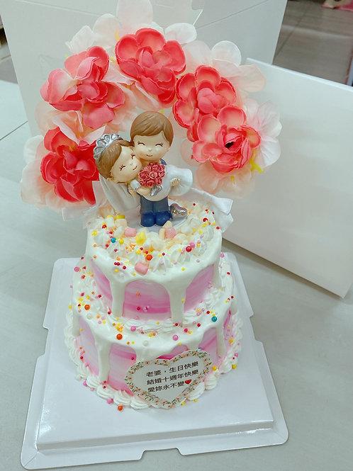 雙層結婚紀念日蛋糕