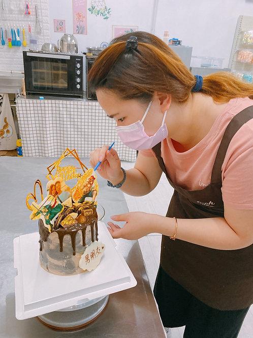 雲石蛋糕加食用印刷相片