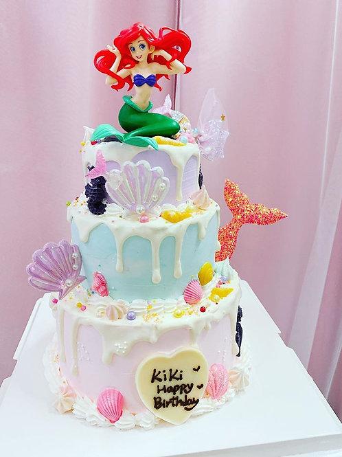 3層美人魚主題蛋糕