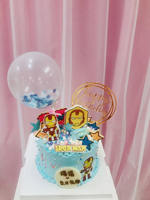 IRON MAN 蛋糕+汽球款