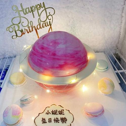 星球蛋糕 粉紅色
