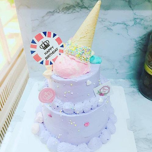 紫色雪糕筒蛋糕