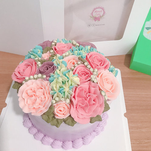 Buttercream花蛋糕 雙色款