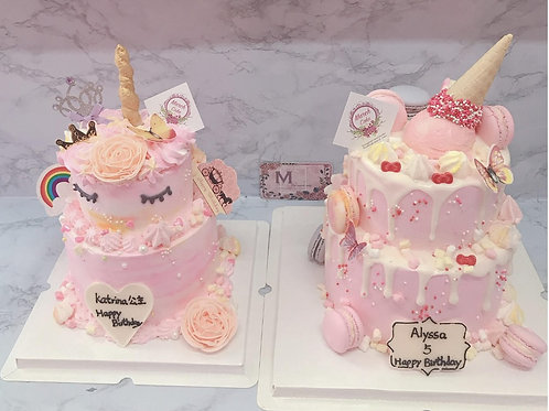 左款 UNICORN 雙層蛋糕