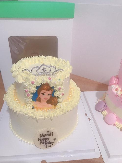 公主皇冠雙層蛋糕