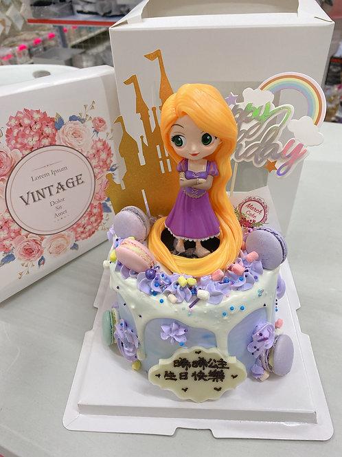 長髮公主 卡通蛋糕