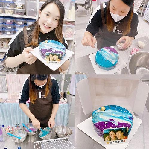鏡面蛋糕配相片