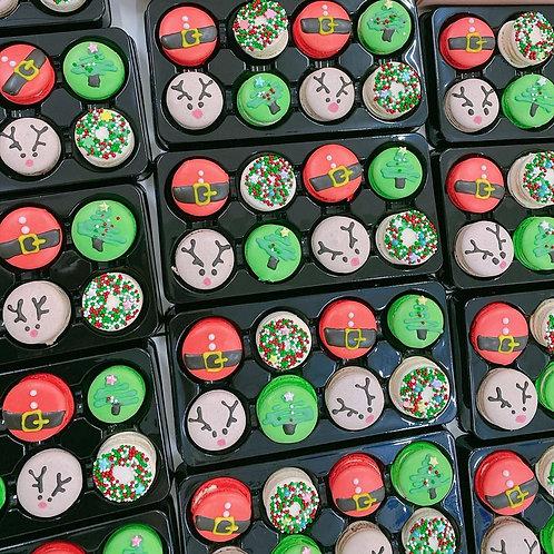 聖誕節版本馬卡龍禮盒 八件