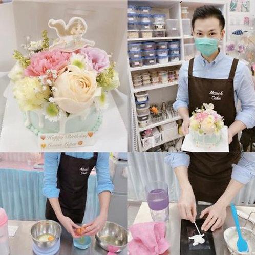 鮮花蛋糕教學
