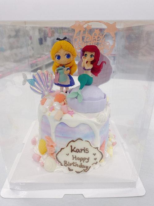公主 美人魚蛋糕