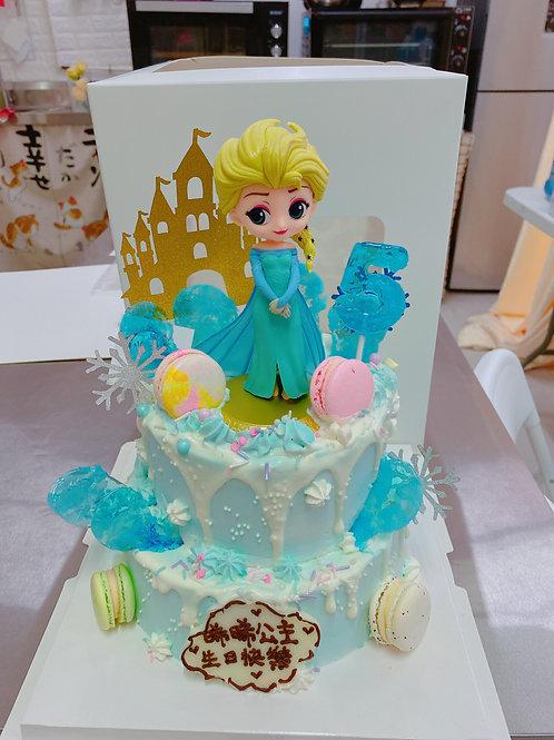 雙層ELSA公主城堡蛋糕