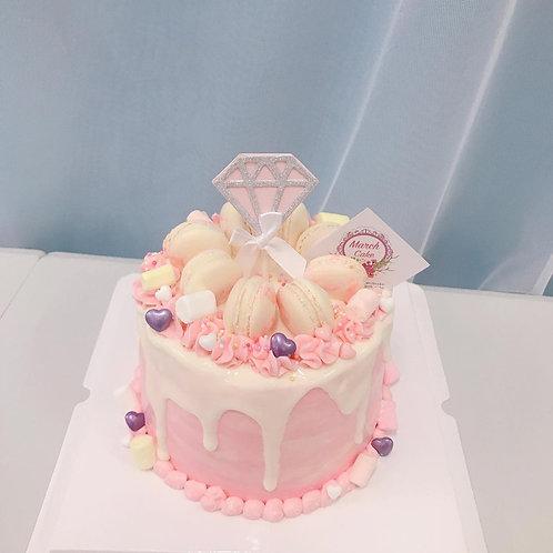 BUTTERCREAM 鑽石馬卡龍蛋糕
