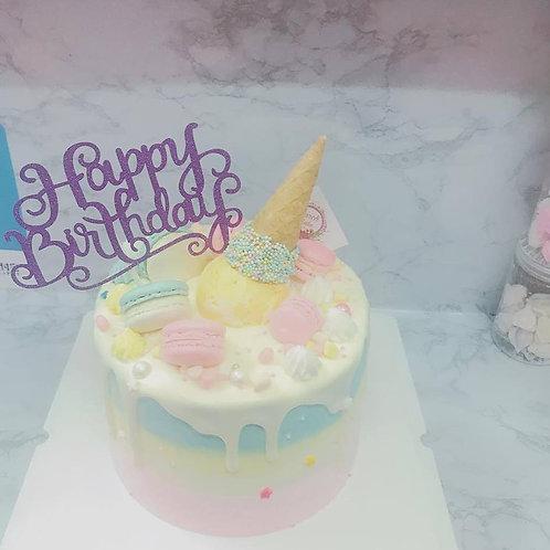 三色雪糕筒蛋糕