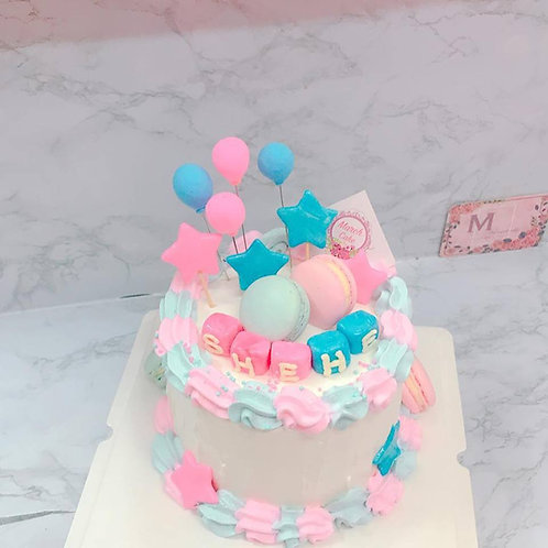 胎兒性別驚喜蛋糕