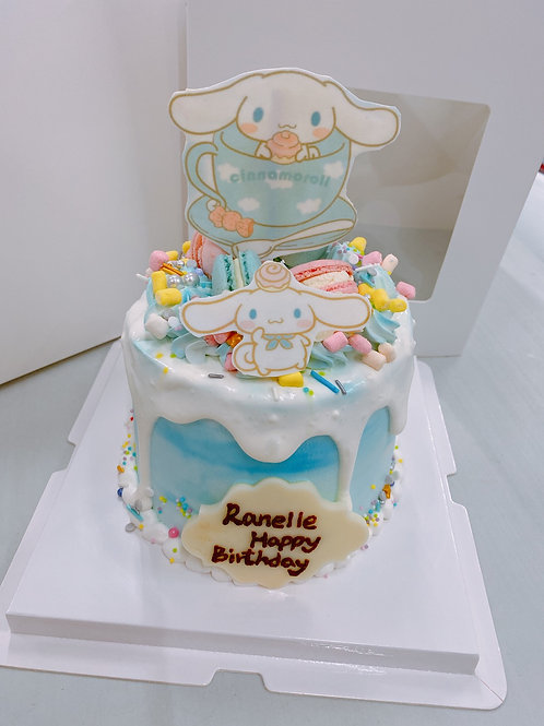 肉桂狗款卡通蛋糕