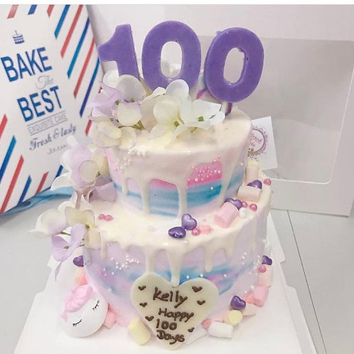 百日宴unicorn 蛋糕