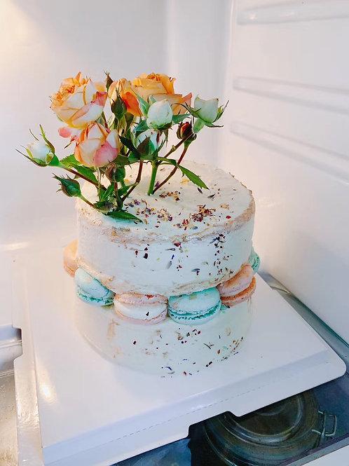 Buttercream 鮮花馬卡龍蛋糕