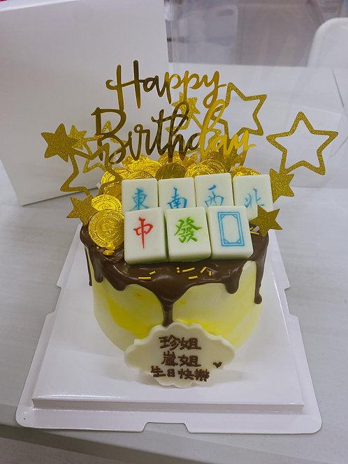 麻雀蛋糕 黃色