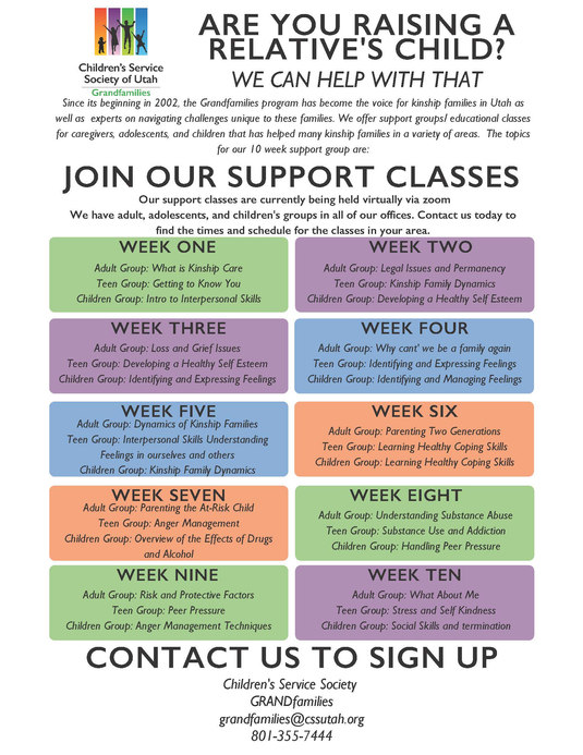 General Support Group Flyer