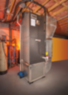 House forced hot air and air conditionin