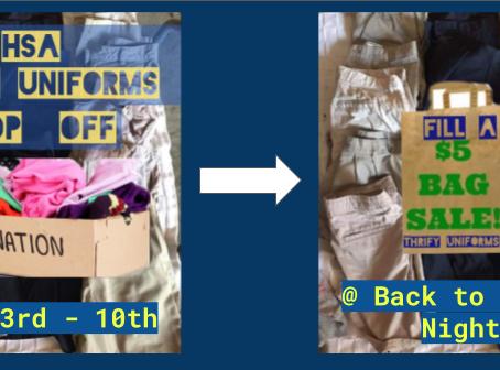Thrifty Uniform Drop Off & Sale