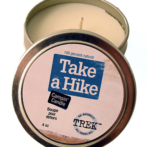 Take a Hike Campin' Candle