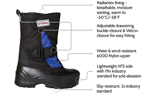 Stonz Trek Winter Boots 10T-2Y