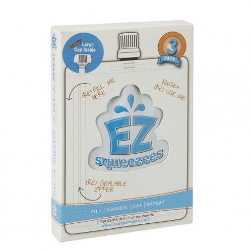 EZ Squeezees Food Pouch - Pack of 3