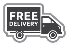 free-delivery-truck-free-shipping-label-