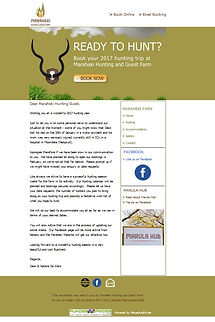 Maraheki Hunting Newsletters by PlacesAndPrices