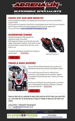 Adrenalin Powersport Newsletters by PlacesAndPrices