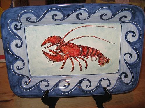 Lobster Rectangular Platter 39 x 27cm