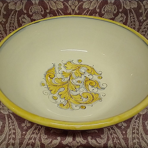 Renaissance Leaf Blue Giallo Serving Bowl 30 cm