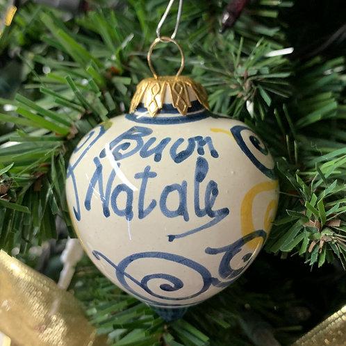 Small Tear Blue Scroll Ornament