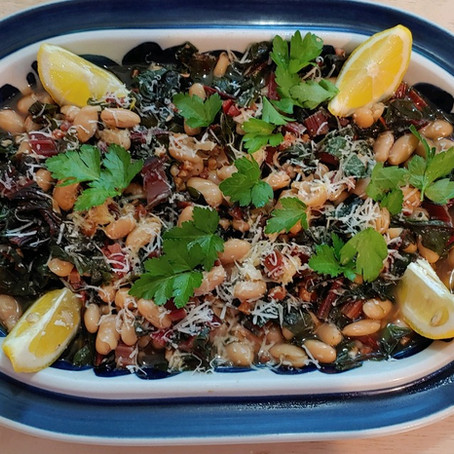 Italian White Beans with Kale and Crispy Pancetta