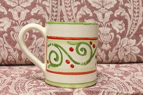 Christmas Red/Green Swirl Mug
