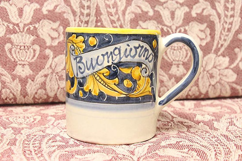 Buongiorno Mug - Blue/Yellow RenaissanceLeaf