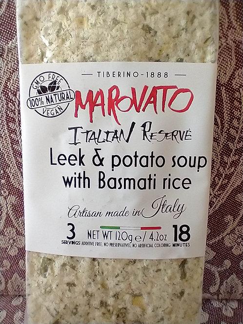 Marovato Leek & Potato Soup with Basmati Rice