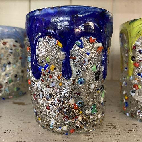 Murano Drinking Glass - Dark Blue