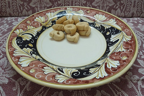 Rampini 28cm Dinner Plate Renaissance Leaf - Terra Cotta