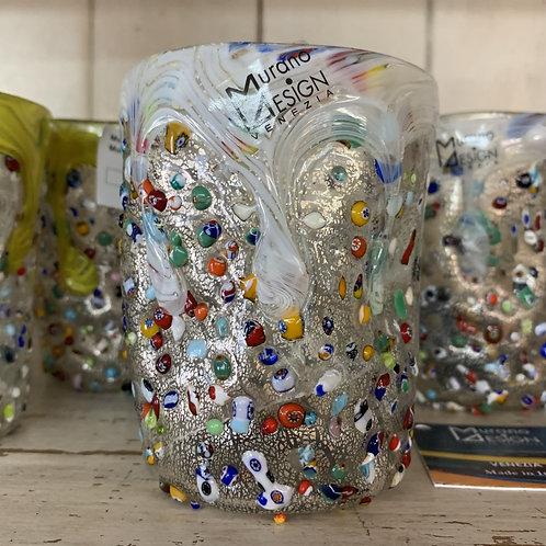 Murano Drinking Glass - White