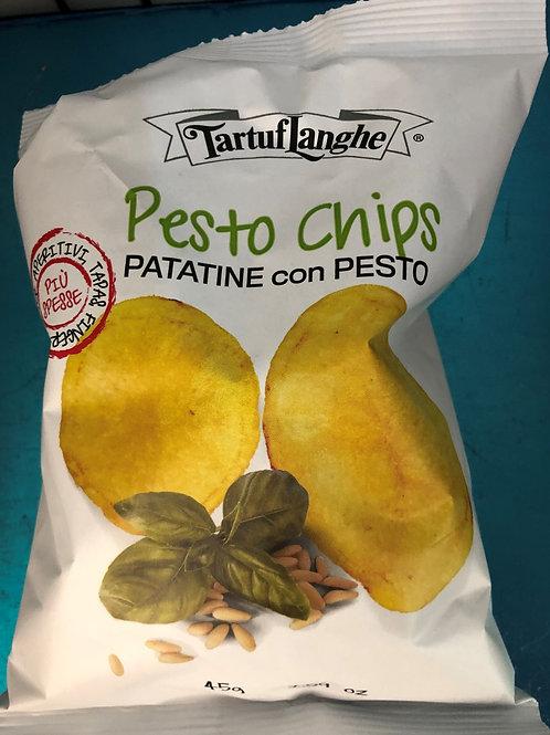 Pesto Flavored Potato Chips
