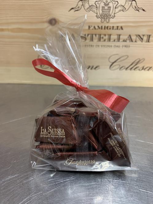 Gianduiotto Dark Chocolate 12 Piece Bag