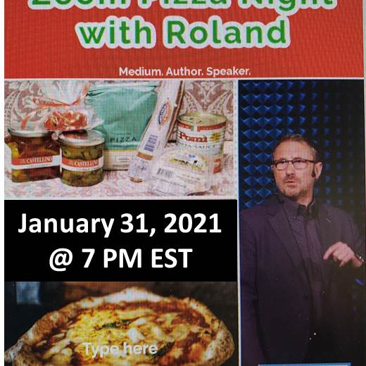 Pizza Night with Roland Comtois on Zoom!