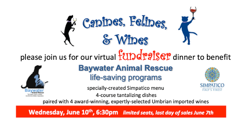 RAFFLE TICKET ONLY: Canines, Felines, & Wines Fundraiser