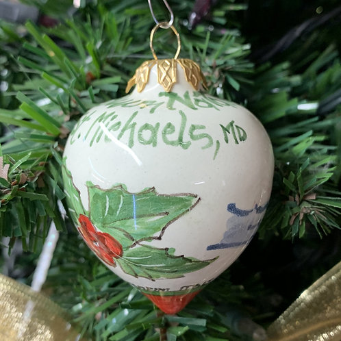 Christmas in St. Michaels Ornament